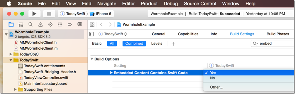 xcode-swift-embedded